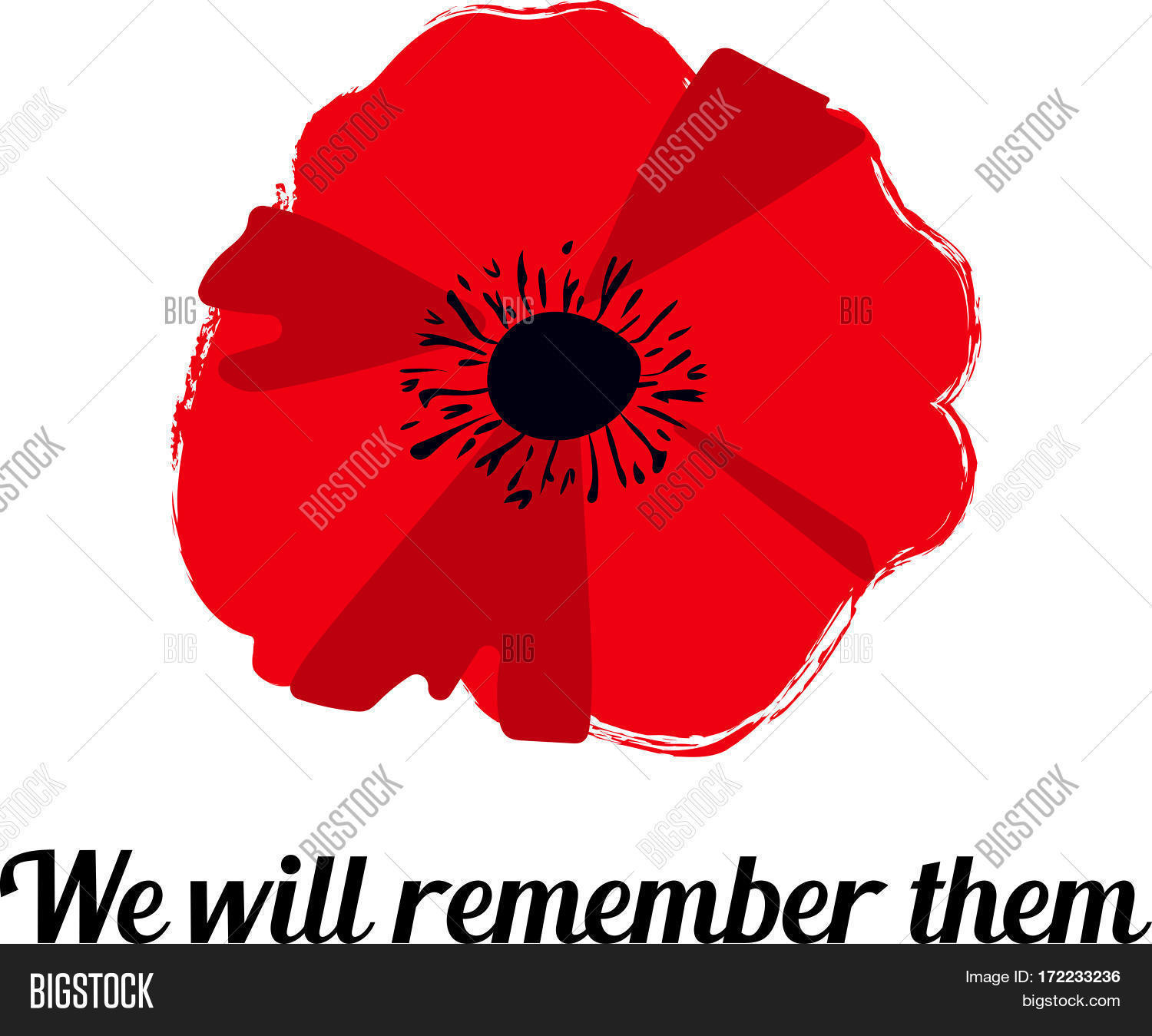 Vector illustration vector photo free trial bigstock vector illustration of a bright poppy flower remembrance day symbol we will remember them mightylinksfo