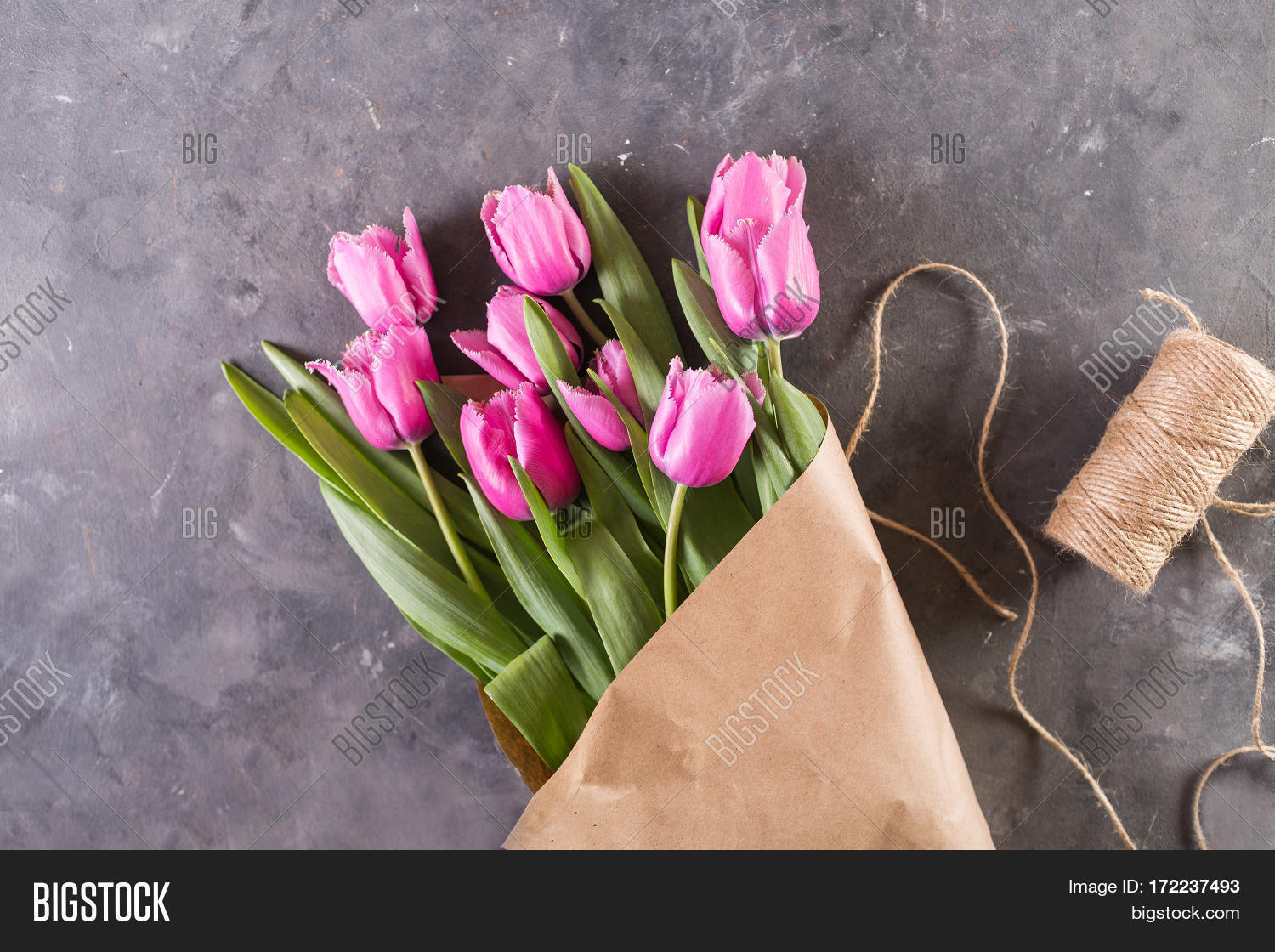 Pink Tulips Package Image Photo Free Trial Bigstock