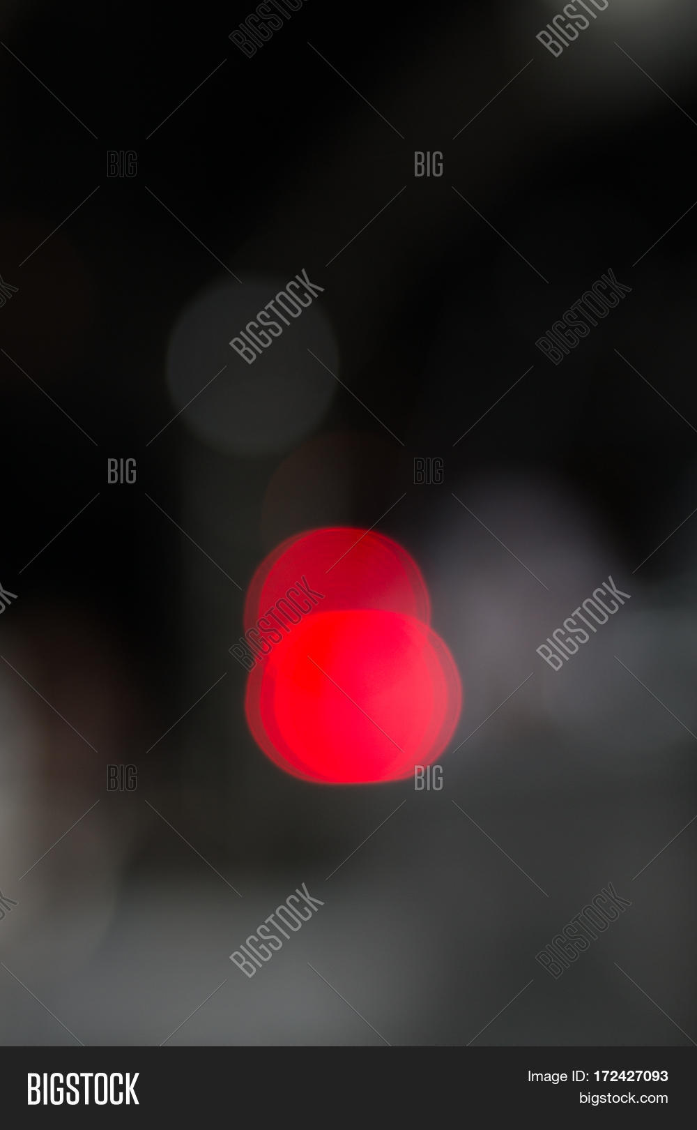 red light bokeh effect with black background