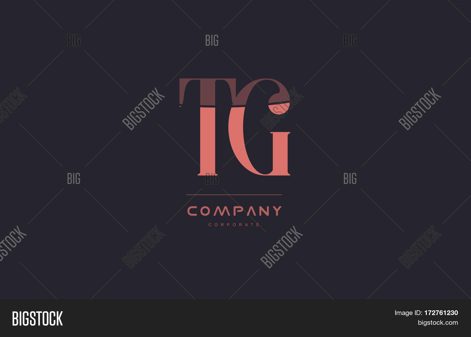 Tg T G Pink Vintage Vector Photo Free Trial Bigstock