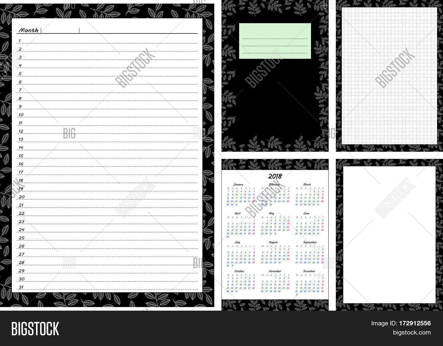 Set Pages Template Vector Photo Free Trial Bigstock