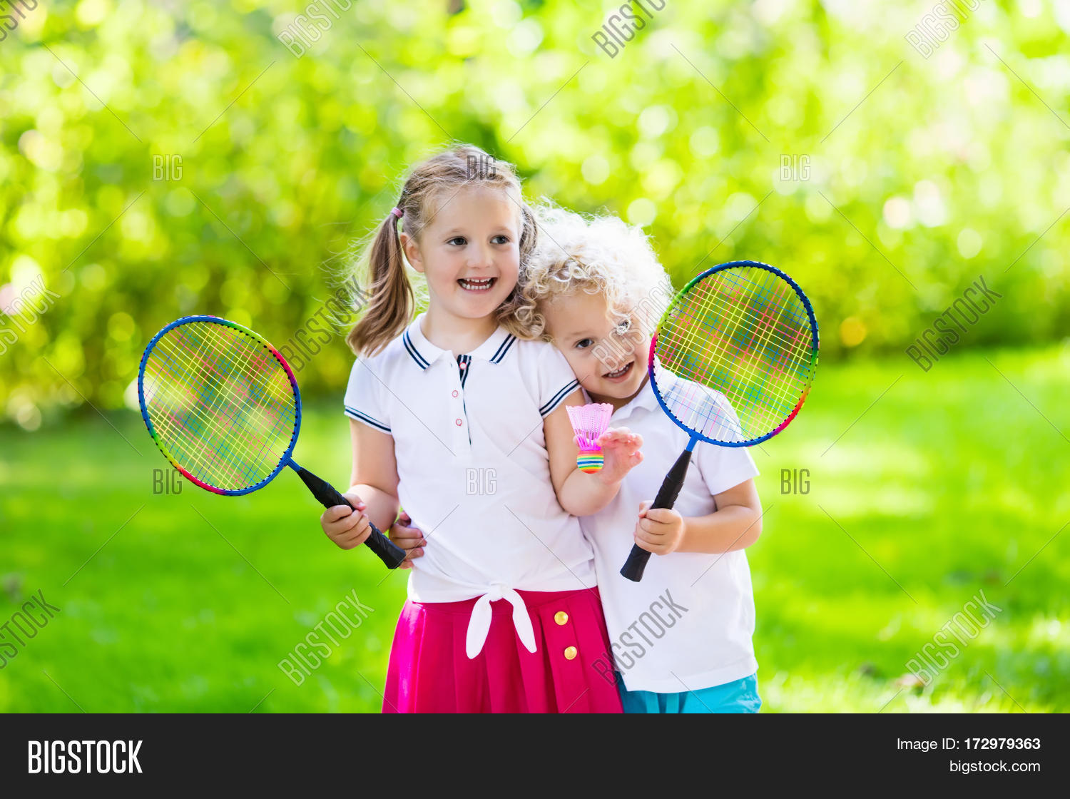 Kids Play Badminton Image & Photo (Free Trial) | Bigstock