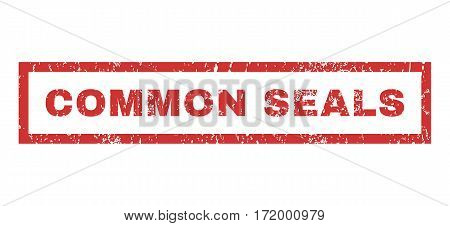 Common Seals text rubber seal stamp watermark. Caption inside rectangular shape with grunge design and dust texture. Horizontal vector red ink emblem on a white background.