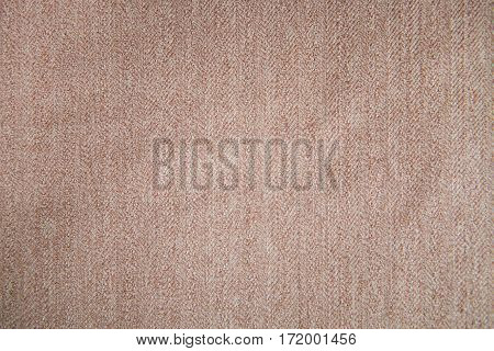 elegant brown cotton fabric texture background .