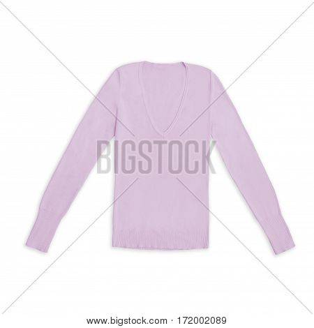 blush pink pullover isolated on white background