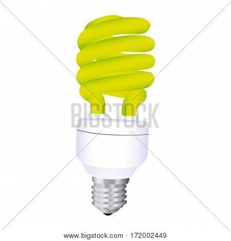 fluorescent light bulb icon design vector illustration
