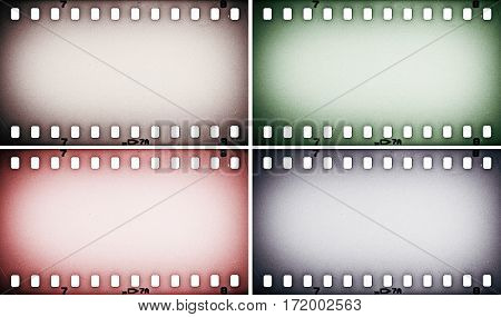 Set of colorful photo, picture film strips.
