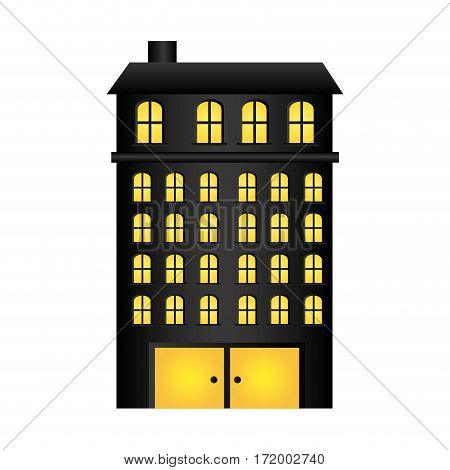 buildings residence with several floors vector illustration