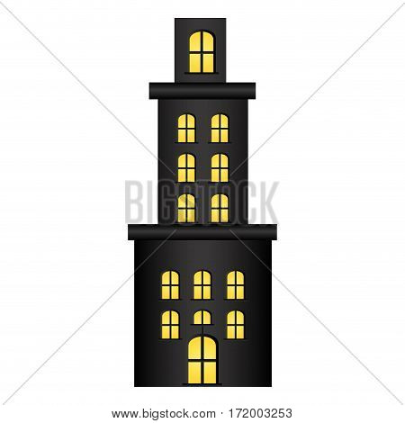 apartment residence with several floors vector illustration