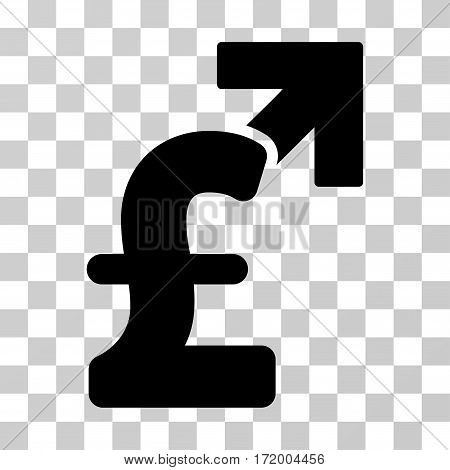 Pound Growth vector pictograph. Illustration style is a flat iconic black symbol on a transparent background.