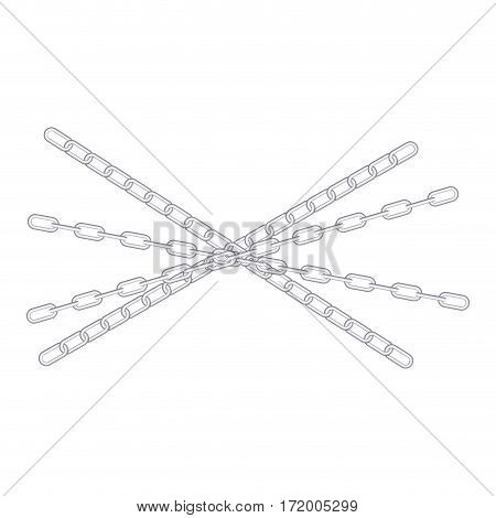 metal set collection chains icon vector illustration