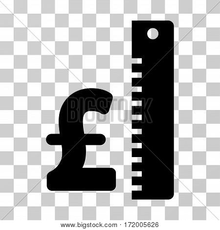 Pound Rate vector pictograph. Illustration style is a flat iconic black symbol on a transparent background.