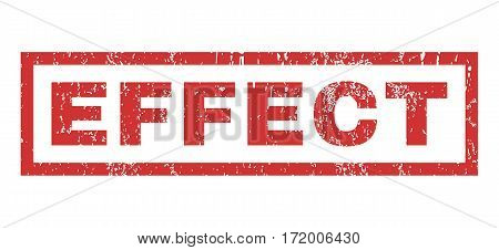 Effect text rubber seal stamp watermark. Caption inside rectangular shape with grunge design and dust texture. Horizontal vector red ink sign on a white background.