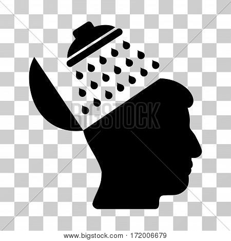 Propaganda Brain Shower vector pictograph. Illustration style is a flat iconic black symbol on a transparent background.