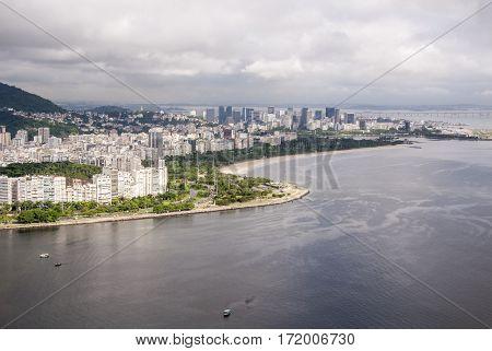 View Of The Cove Of Botafogo In Rio De Janeiro