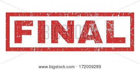 Final text rubber seal stamp watermark. Tag inside rectangular shape with grunge design and unclean texture. Horizontal vector red ink sticker on a white background.