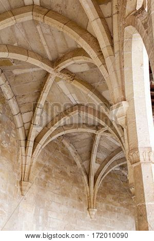 A ceiling vault element of a castello in Spain