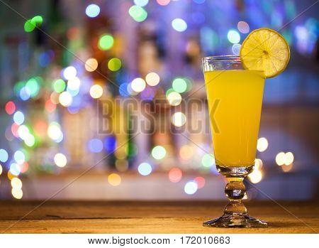 Glass Of Orange Cocktail