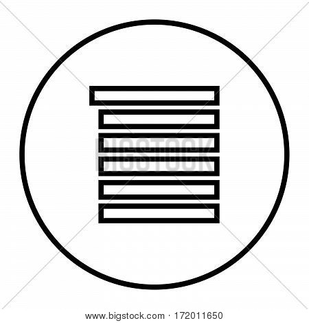 simple thin line playlist button icon vector