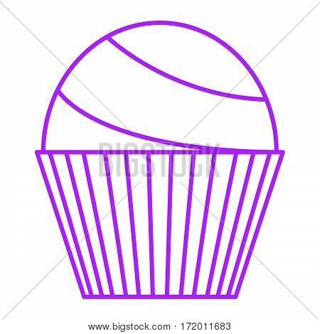 simple thin line ordinary cupcake icon vector