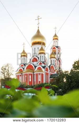 The Cathedral of St. George the victorious. Moscow region Odintsovo town Russia.