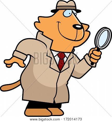 Cartoon Cat Detective