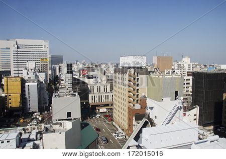 Aerial View Cityscape Of Shinjuku In Tokyo City Of Kanto Region From Hotel