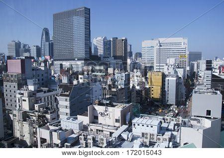 Aerial View Cityscape Of Shinjuku In Tokyo City Of Kanto Region
