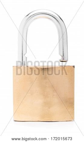 Padlock isolated white background high quality and high resolution studio shoot