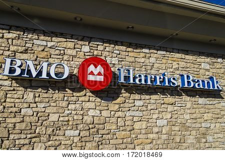 Indianapolis - Circa February 2017: Bmo Harris Bank. Bmo Harris Is One Of The Largest Banks In The M