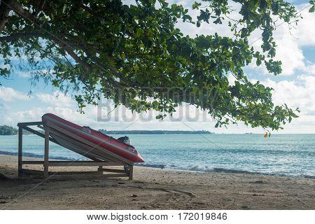 Tree And Beautiful Sky On The Beach Thailand