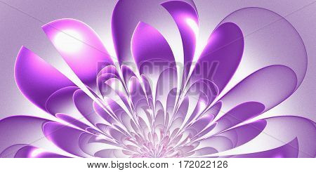 Beautiful lush fractal flower. Artwork for creative design art and entertainment.