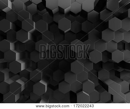 3d grey Polygon Abstract Polygonal Geometric Hexagon Background