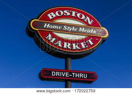 Indianapolis - Circa February 2017: Logo And Signage Of A Boston Market Fast Casual Restaurant. Bost