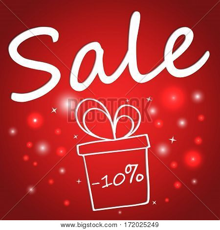 Sale banner template design. Vector illustration background. 50 percent off. Two for one.
