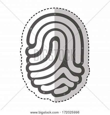 finger print isolated icon vector illustration design