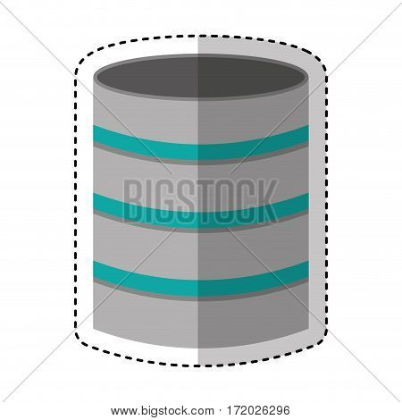 disk server isolated icon vector illustration design
