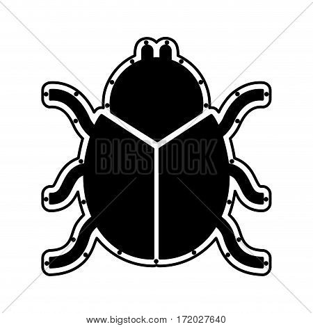 beetle silhouette isolated icon vector illustration design