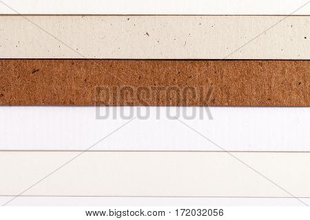 Background of colorful paper parallel horizontal stripes.