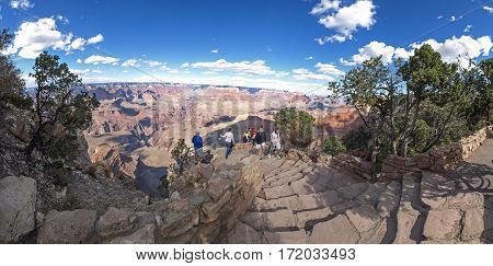 The Grand Canyon. Views Of The Canyon, The Landscape And Nature