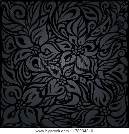Decorative black luxury vintage holiday background design