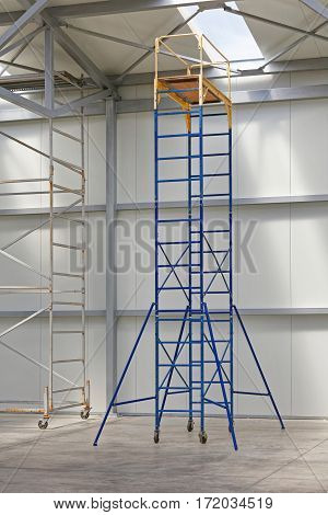 Mobile Scaffold Platform Tower in Distribution Warehouse