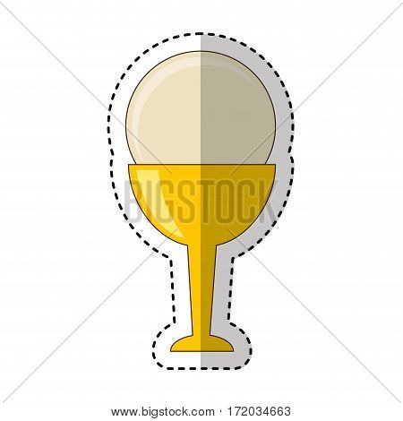 first communion chalice icon vector illustration design