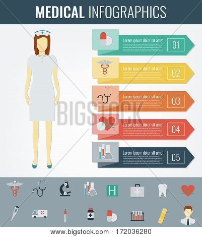 Medical Infographic template. Healthcare infographic. Vector illustration