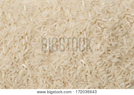 Uncooked White Basmati Rice Textured As Background