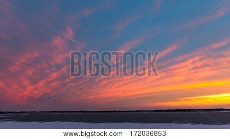 Nice evening sky after sunset