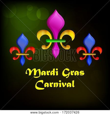Margi Gras Carnival celebrations background, refers to events of the Carnival celebrations, beginning on or after the Christian feasts of the Epiphany and culminating on the day before Ash Wednesday