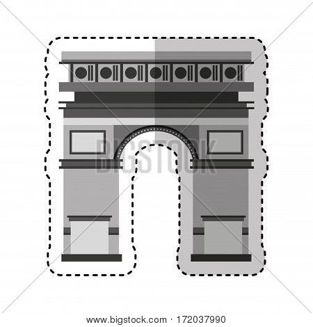 triumph arch monument icon vector illustration design