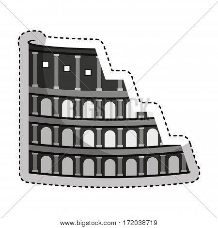 rome coliseum isolated icon vector illustration design