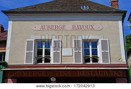 Auvers sur Oise France - august 14 2016 : auberge Ravoux where Vincent Van Gogh died in july 29 1890